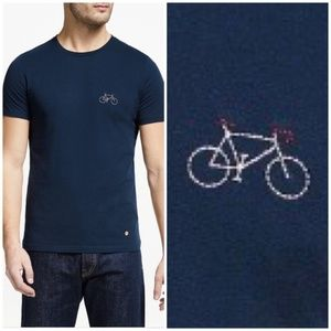Navy Bicycle T-Shirt NEW